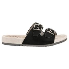 Kylie Klassieke zwarte slippers
