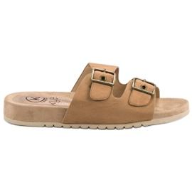Kylie Klassieke bruine slippers