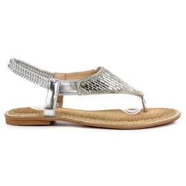 Encor grijs Zilveren sandalen