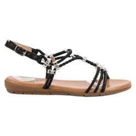 Cm Paris zwart Platte sandalen