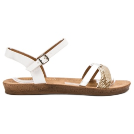 Seastar Modieuze platte sandalen wit