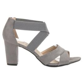 Filippo Grijze instap sandalen grijs