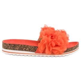 Seastar Modieuze oranje pantoffels