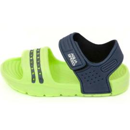 Sandalen Aqua-speed Noli groen marine blauw col.84