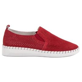 Filippo Leren sneakers instapper rood