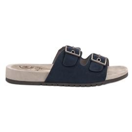 Kylie blauw Klassieke Navy Slippers