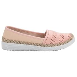 SHELOVET roze Textiel espadrilles