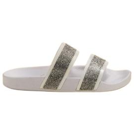 Seastar Witte slippers met kristallen