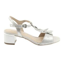 Caprice grijs Sandalen met zilveren doppen