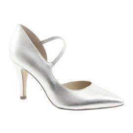 Schoenen met riem Caprice 24402 zilver grijs