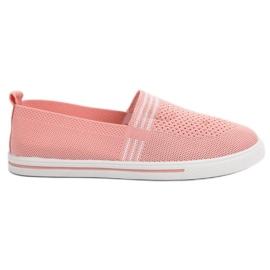 SHELOVET Textiel sneakers roze