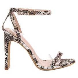 Seastar bruin Sandals dierenprint