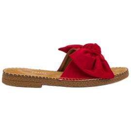 Seastar Rode slippers met strik rood