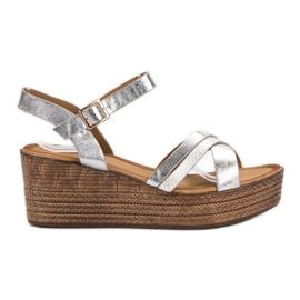 Seastar Lichte sandalen op sleehak grijs