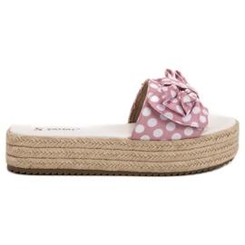 Seastar roze Slippers In Dots