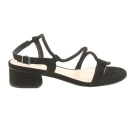 Zwarte sandalen met hoge hak Edeo 3386
