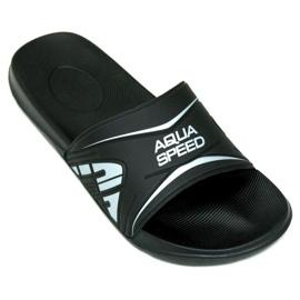Zwart Aqua-Speed slippers Dakota M kleur.7