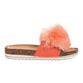 Seastar Slippers met kwast oranje