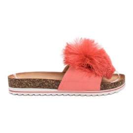 Seastar Slippers met kwast rood
