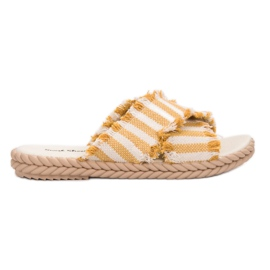 Seastar geel Slippers met riemen