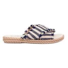 Seastar Slippers met riemen blauw