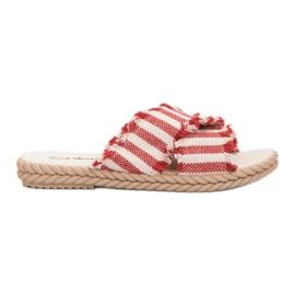 Seastar Slippers met riemen rood