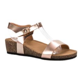 Seastar geel Gelakte sandalen