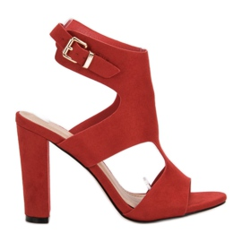 Ideal Shoes rood Sexy hoge hakken
