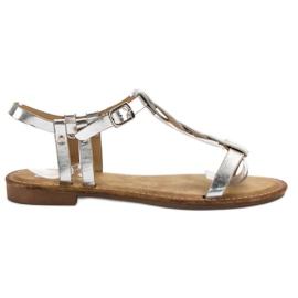SHELOVET grijs Zilveren sandalen