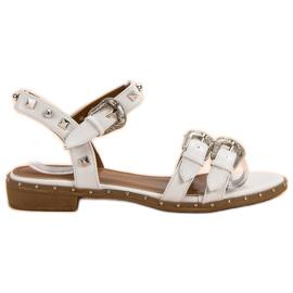 Small Swan Witte sandalen met studs