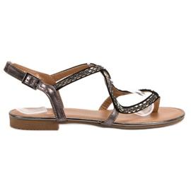 Small Swan Japanse sandalen grijs