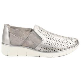 Filippo grijs Zilveren slip-schoenen