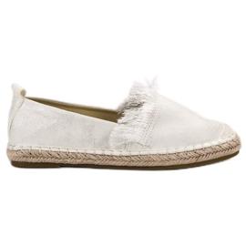 Lily Shoes wit Espadrilles met franjes