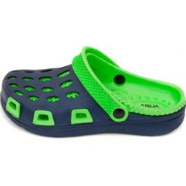 Aqua-speed slippers Silvi Jr col 48 groen marine blauw