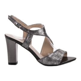 Goodin grijs Zilveren sandalen
