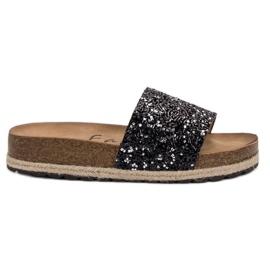 Goodin Damesmode pantoffels zwart