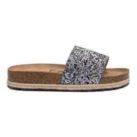 Goodin Damesmode pantoffels grijs