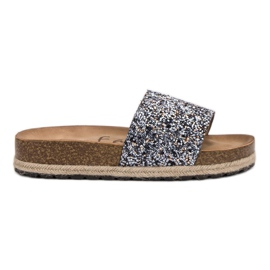 Goodin grijs Damesmode pantoffels