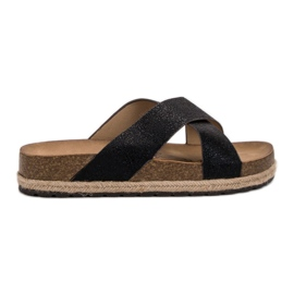 Goodin Comfortabele zwarte slippers