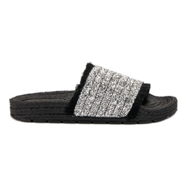 Comfortabele VICES-slippers zwart