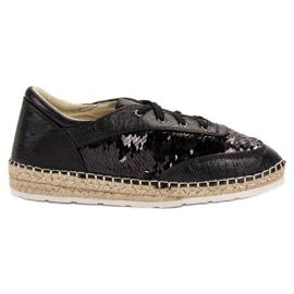 Schoenen met VICES-lovertjes zwart