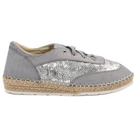 Schoenen met VICES-lovertjes grijs
