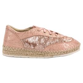 Schoenen met VICES-lovertjes roze