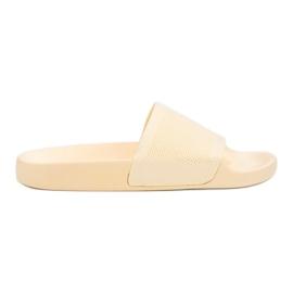 Gele slippers VICES geel