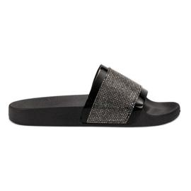 Slippers met VICES Zirconies zwart