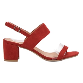 Ideal Shoes Modieuze damessandalen rood