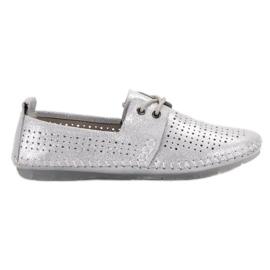 Leren schoenen VINCEZA grijs