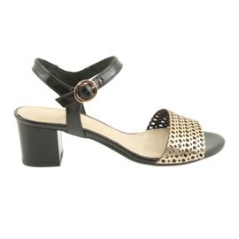 Espinto Sandalen op de zwart / gouden paal