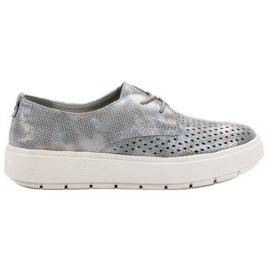 Goodin Lichte lederen schoenen grijs