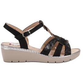 Kylie Lichte sandalen zwart
